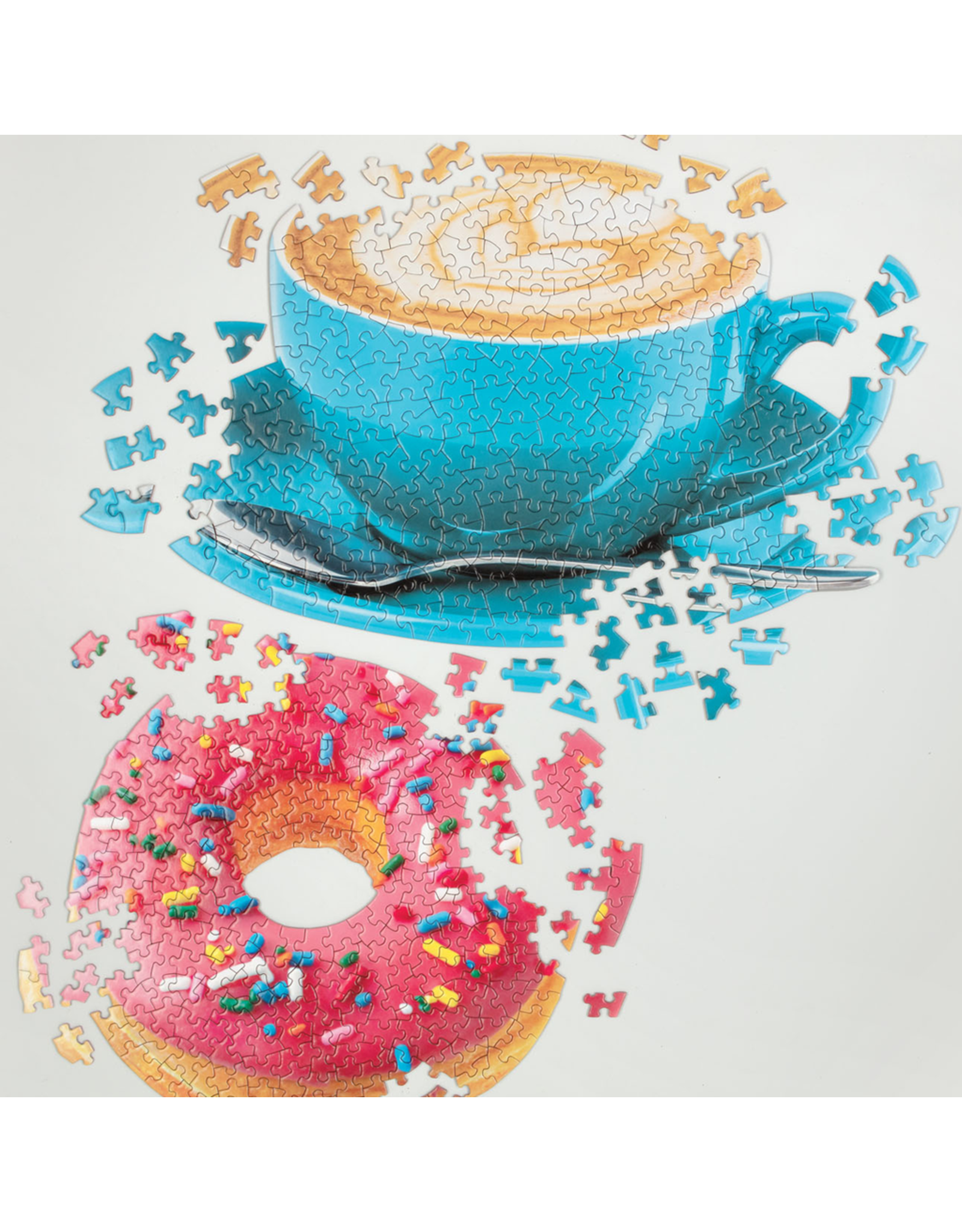 Galison DAILY SPECIAL SET OF TWO SHAPED JIGSAW PUZZLE SET