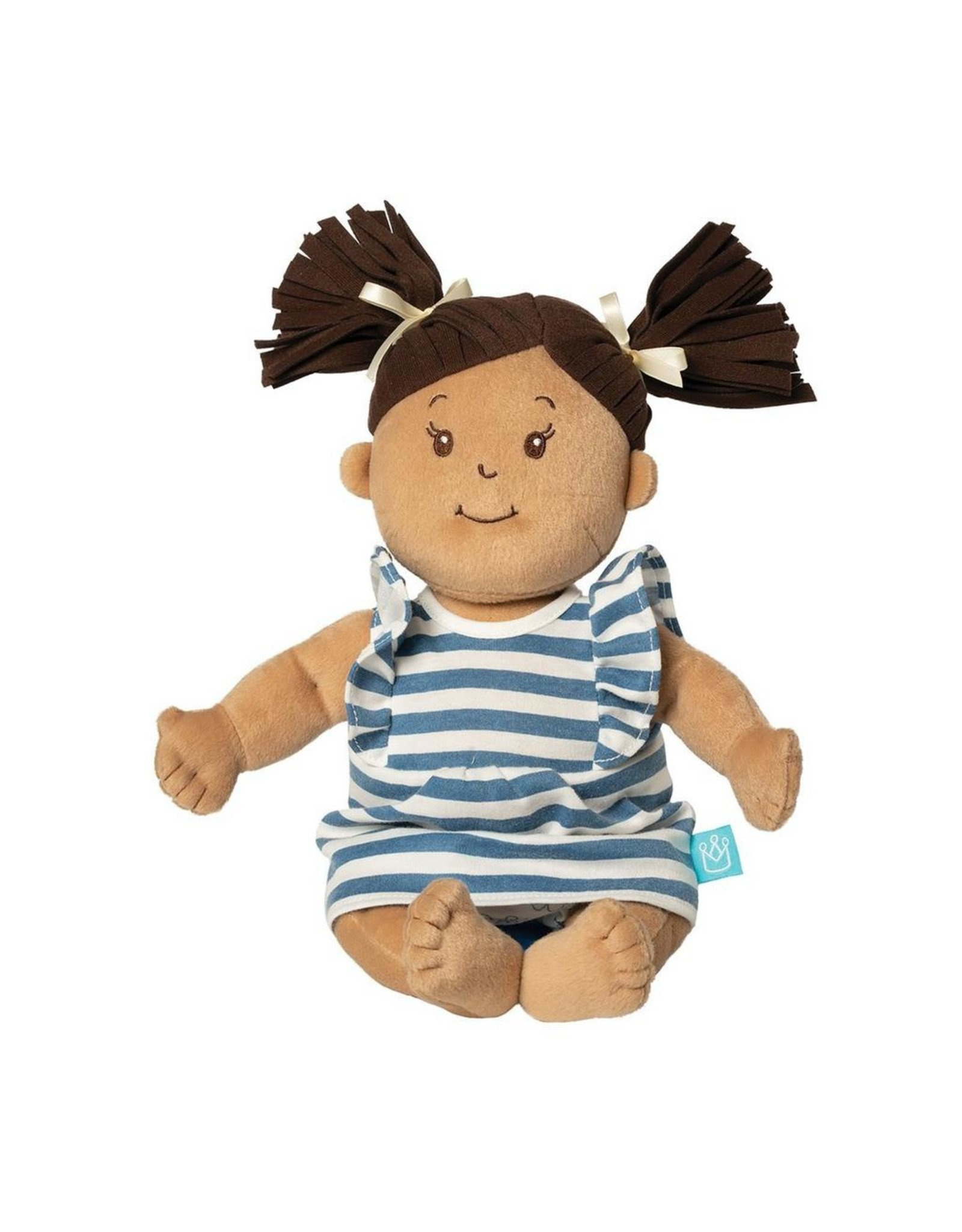 Manhattan Toy BABY STELLA BEIGE DOLL WITH BROWN HAIR