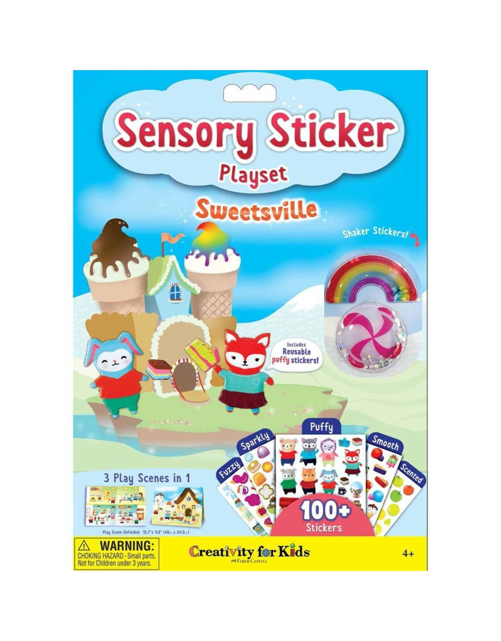 Creativity for Kids SWEETSVILLE SENSORY STICKERS
