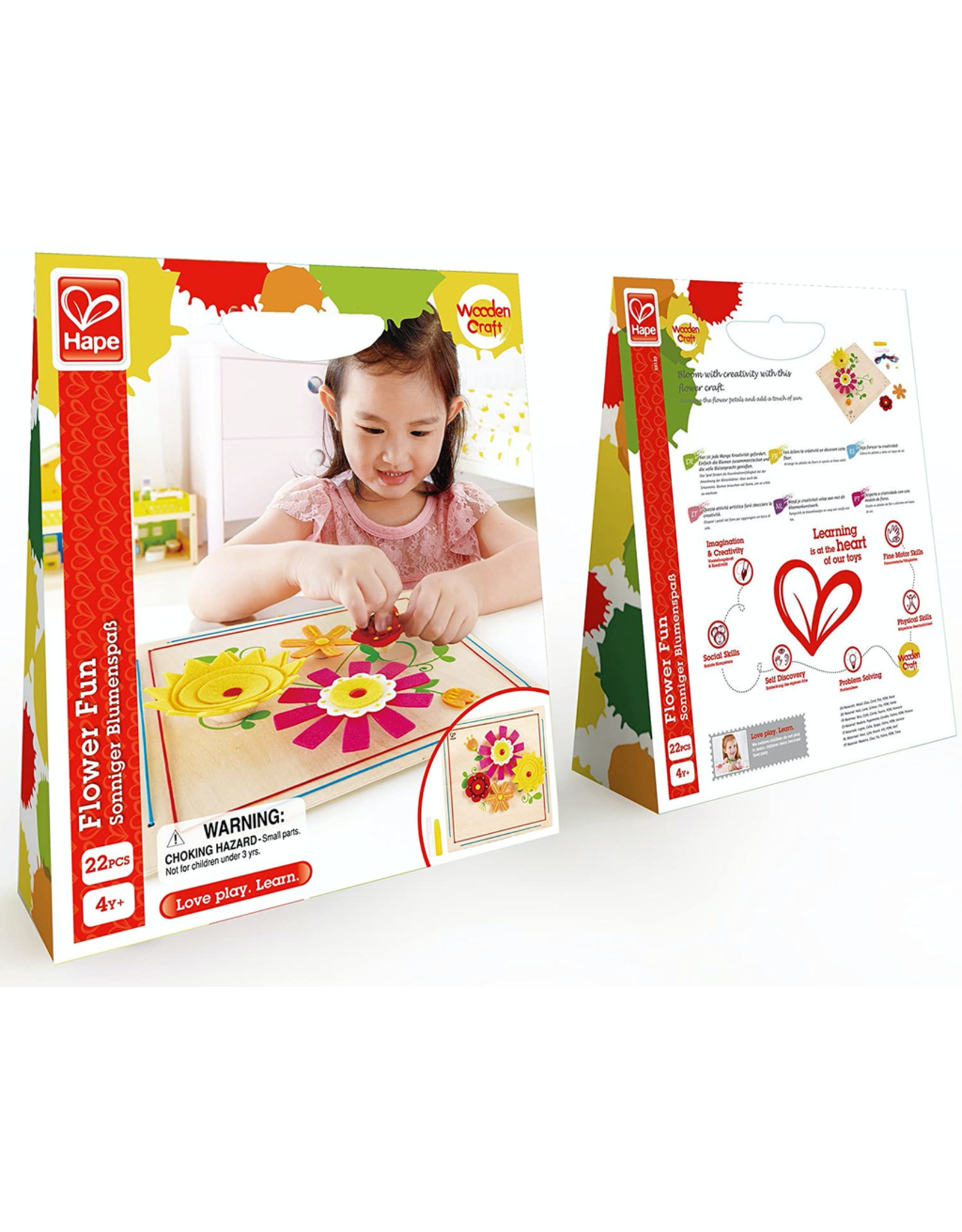 Hape FLOWER FUN WOODEN KID'S ARTS AND CRAFT KIT