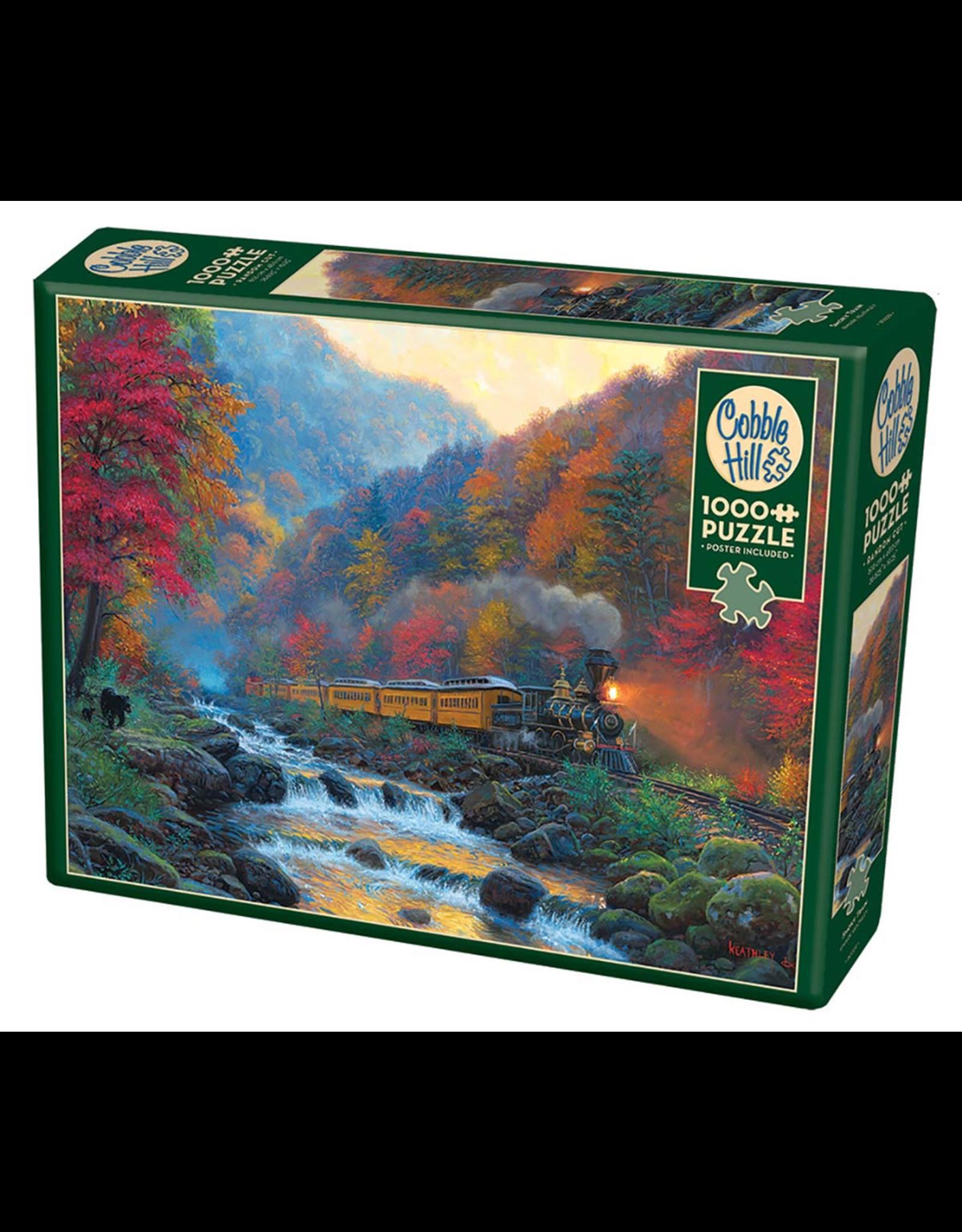 Cobble Hill Puzzles SMOKY TRAIN 1000PC