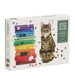 Galison Queen of the Stacks 2-in-1 Puzzle Set