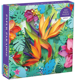 Galison Paper Paradise 500 Piece Puzzle