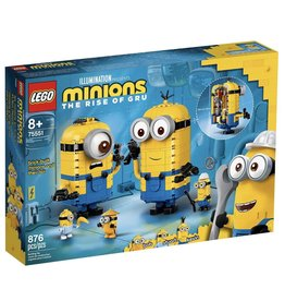 LEGO MINIONS THE RISE OF GRU 75551 BRICK-BUILT MINIONS AND THEIR LAIR