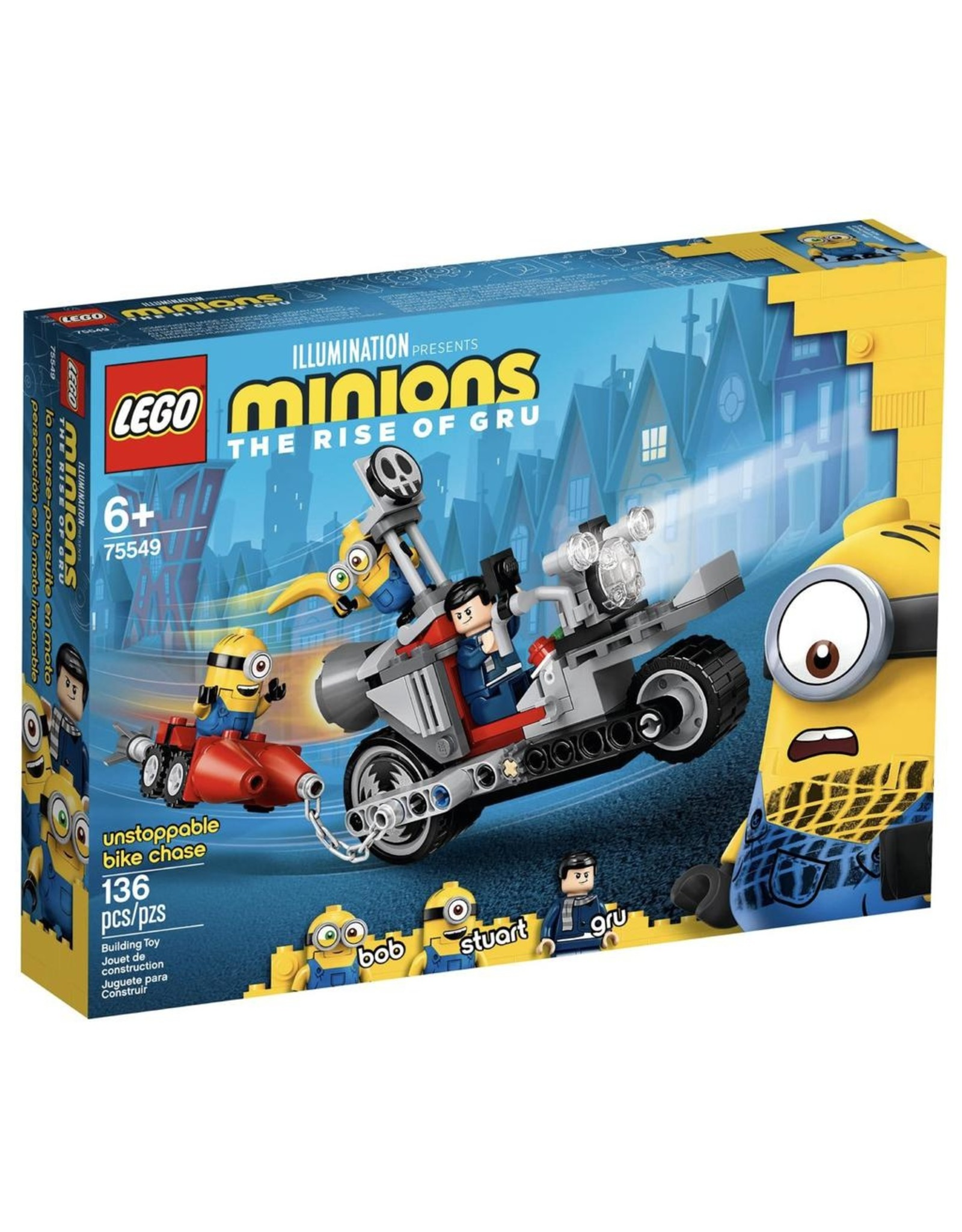 LEGO MINIONS THE RISE OF GRU 75549 UNSTOPPABLE BIKE CHASE