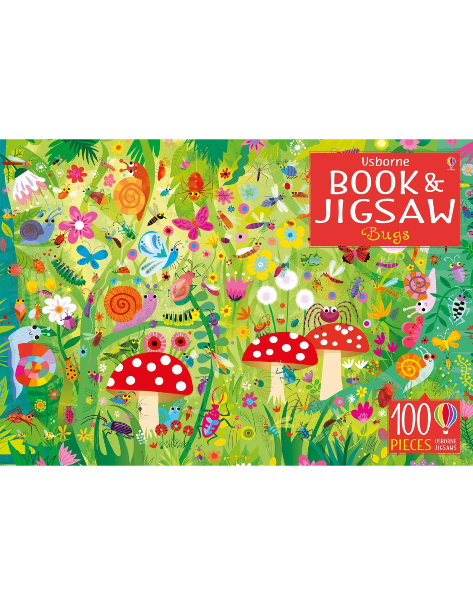 Usborne PICTURE PUZZLE BOOK & JIGSAW BUGS 100 PIECES
