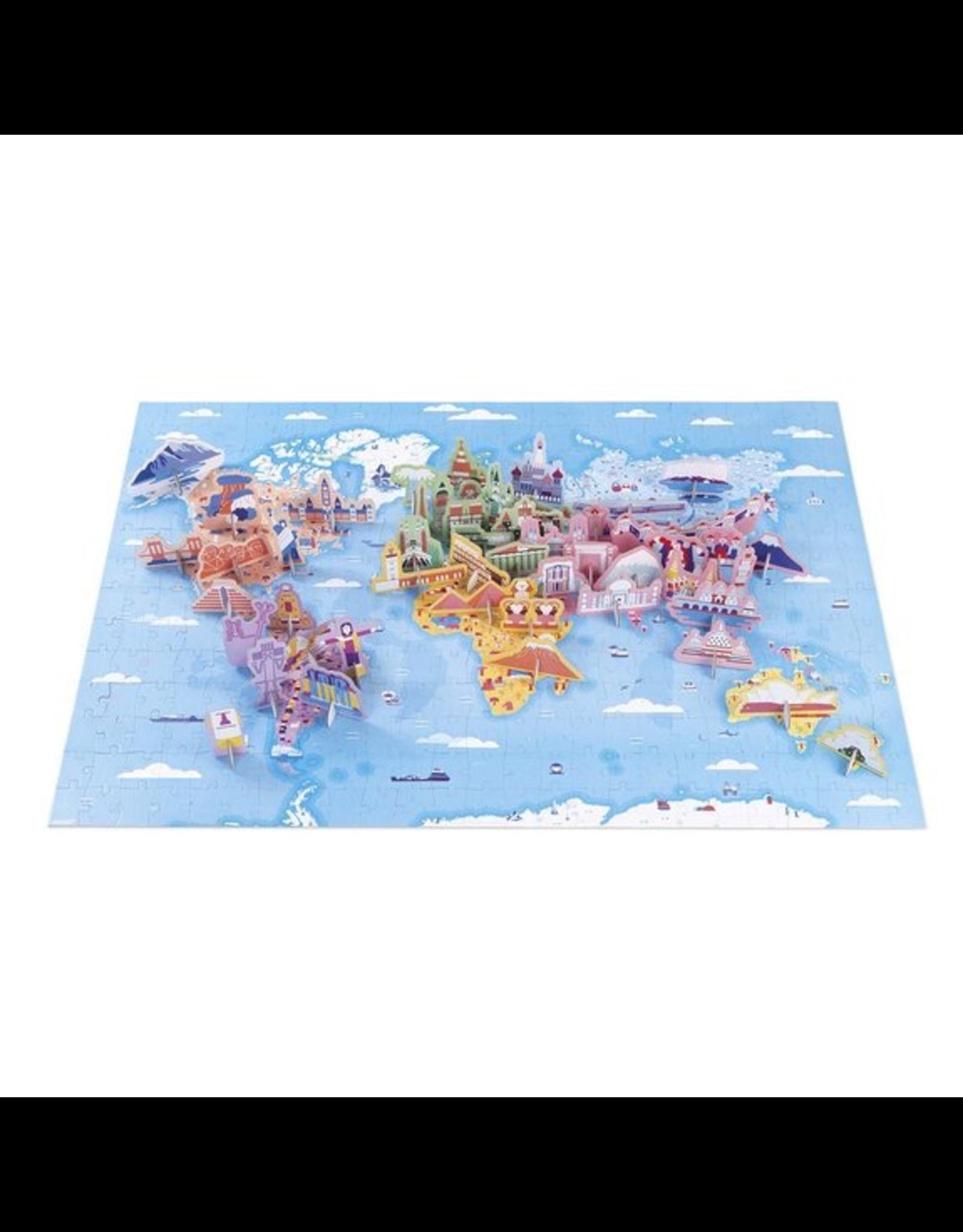Janod EDUCATIONAL PUZZLE - WORLD CURIOSITIES - 350 PIECES