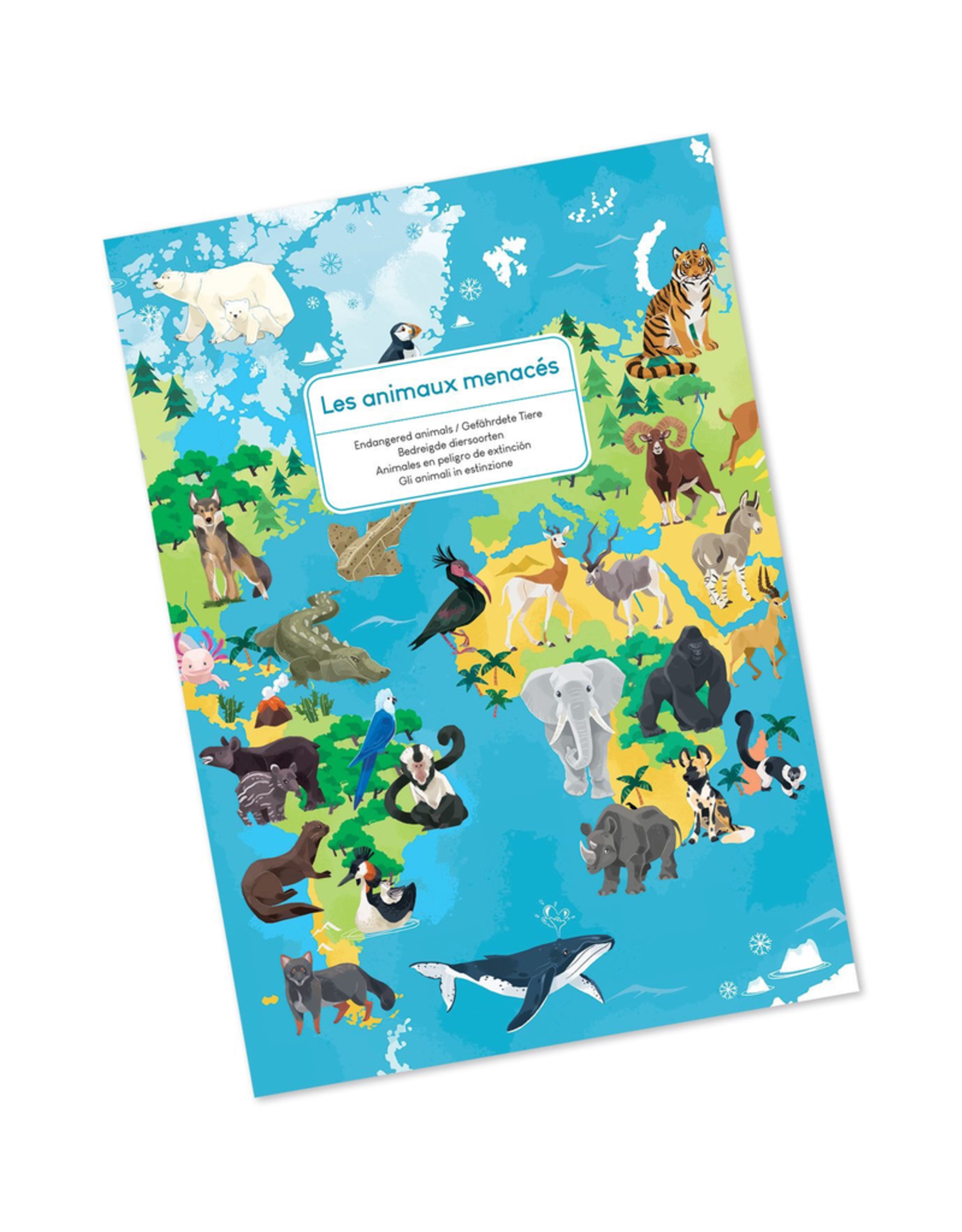 Janod EDUCATIONAL PUZZLE - ENDANGERED ANIMALS - 200 PIECES