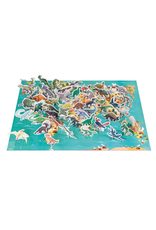 Janod EDUCATIONAL PUZZLE - THE DINOSAURS - 200 PIECES