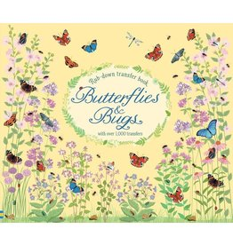 Usborne Butterflies And Bugs Rub-Down Transfer Book