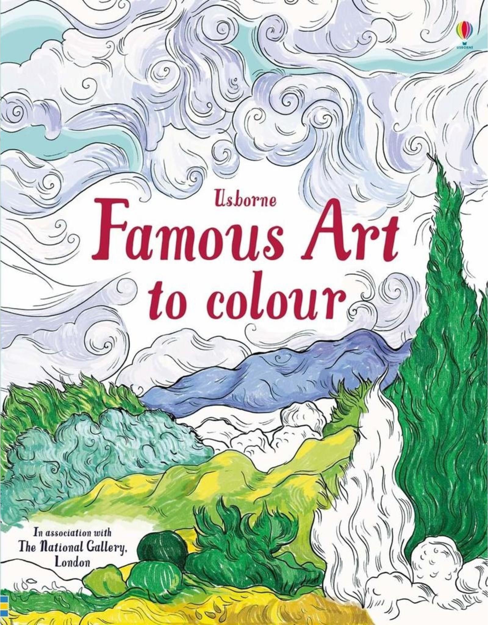 Usborne Famous Art To Colour