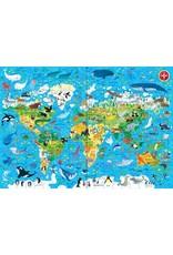Usborne BOOK & JIGSAW ANIMALS OF THE WORLD 200 PIECES