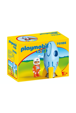 Playmobil PLAYMOBIL 70186   1.2.3   ASTRONAUT WITH ROCKET