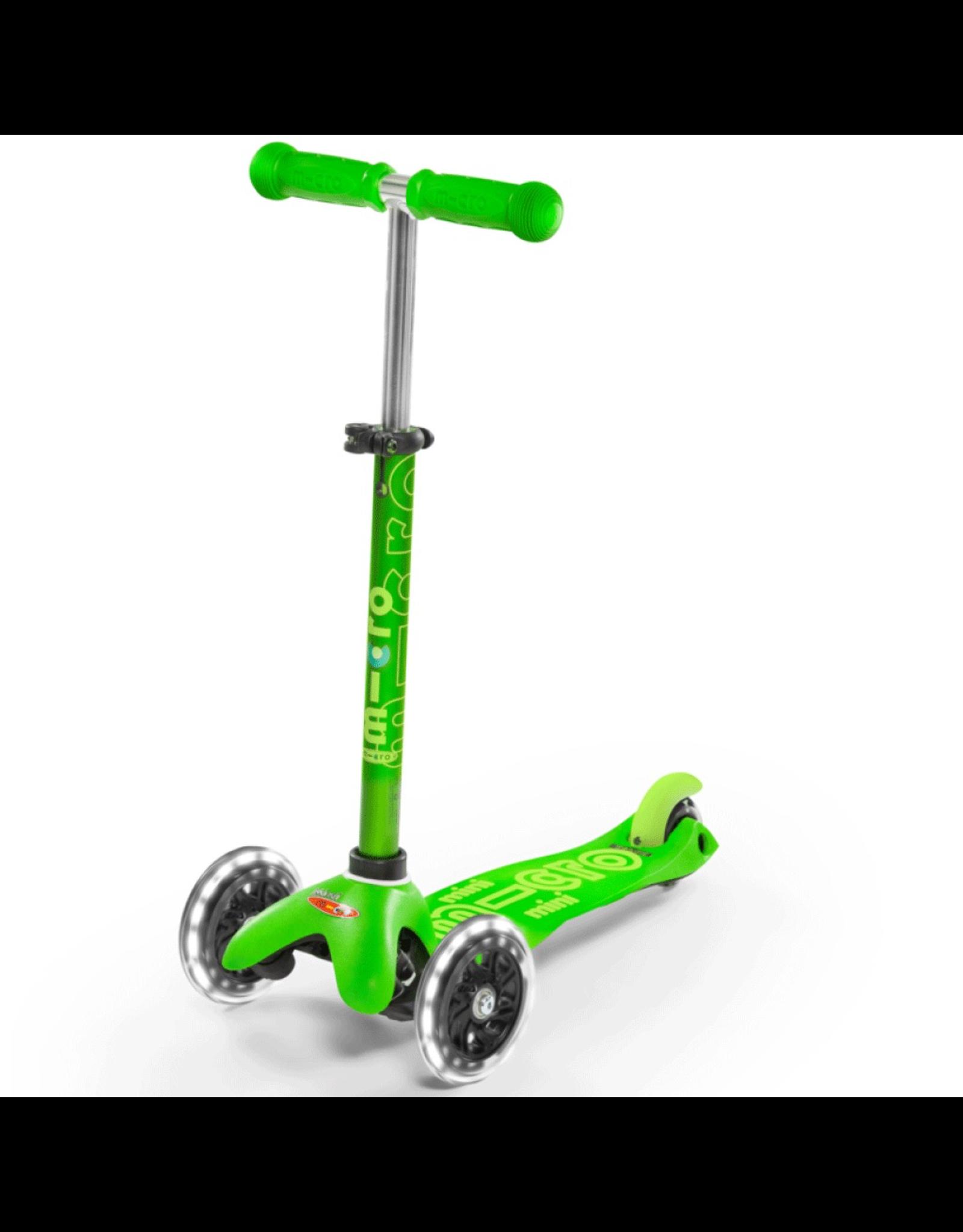 Kickboard MINI MICRO DELUXE LED - GREEN
