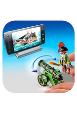 Playmobil 6162 GREEN INTERACTIVE CANNON WITH PIRATE CAPTAIN