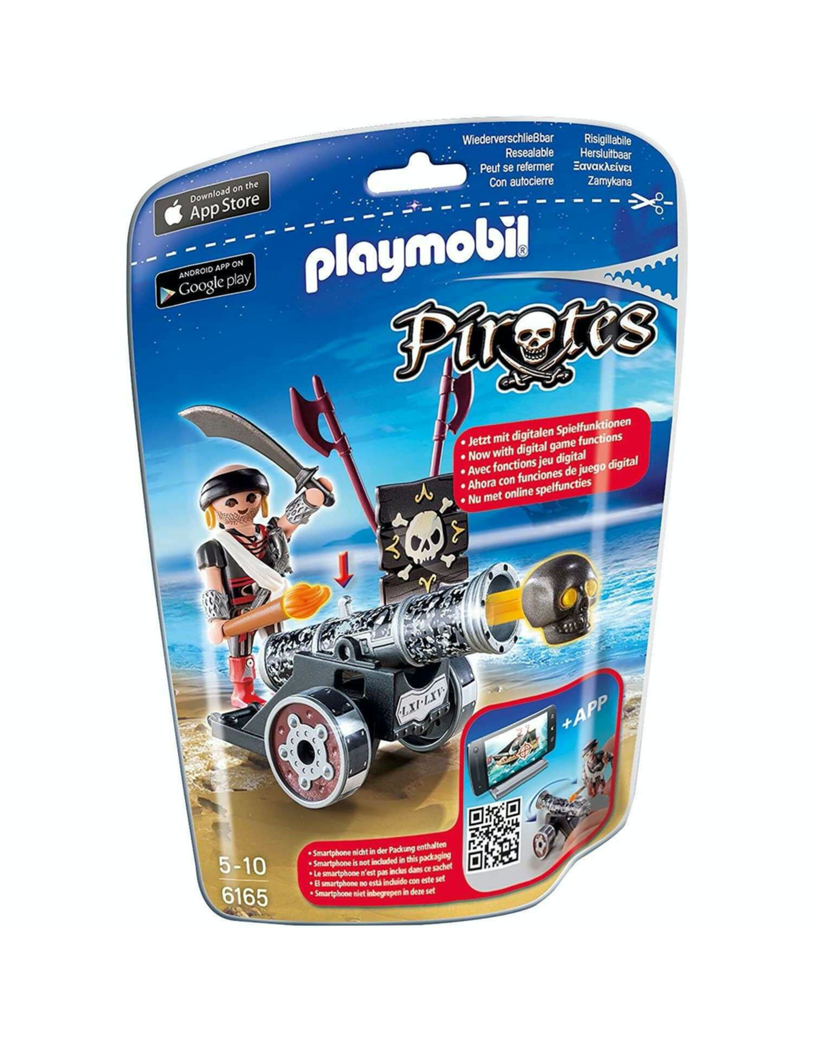 Playmobil 6165 BLACK INTERACTIVE CANNON WITH RAIDER