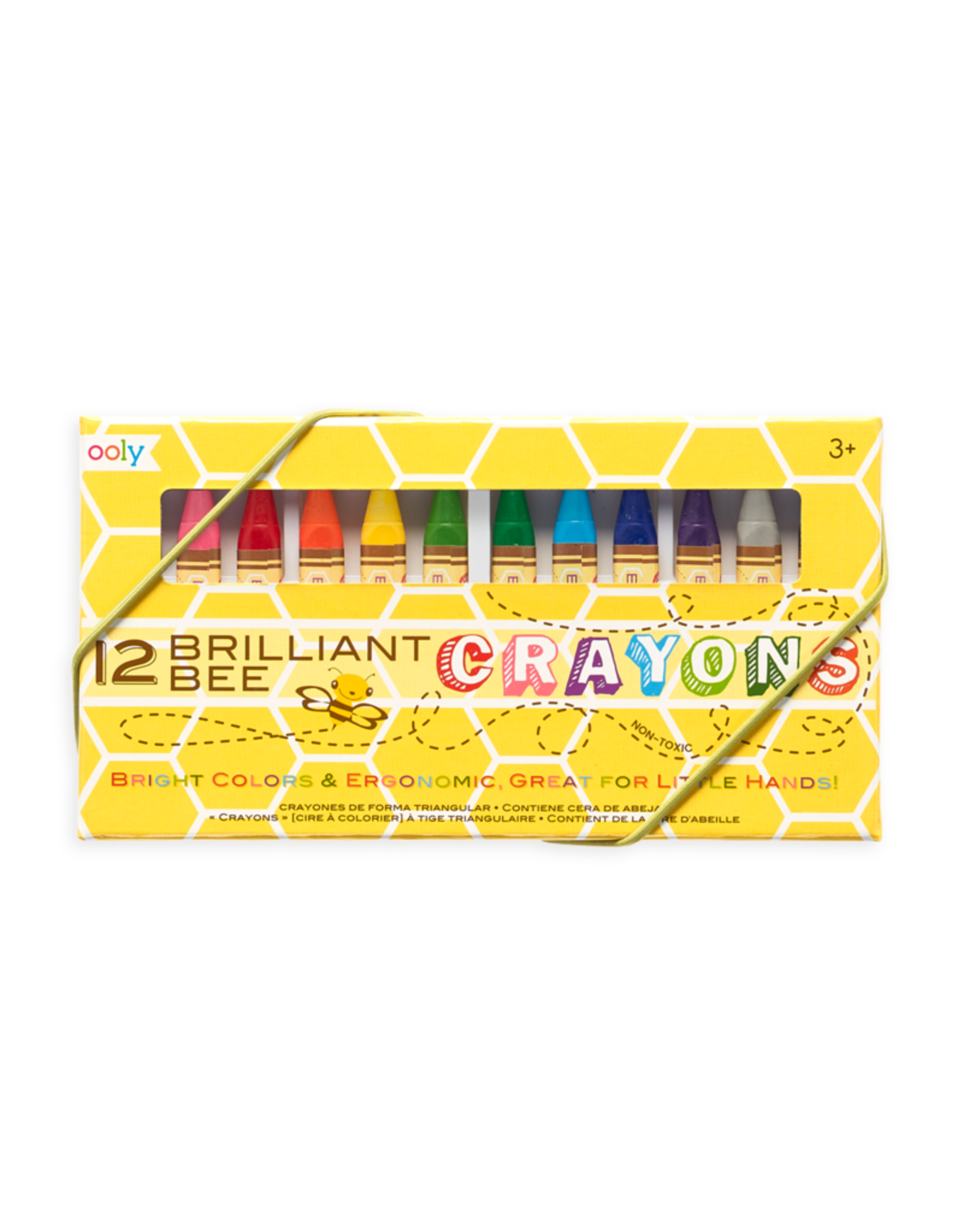 Ooly BRILLIANT BEE CRAYONS - SET OF 12