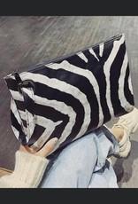 The Wandering WAgon Whitney wristlet in zebra