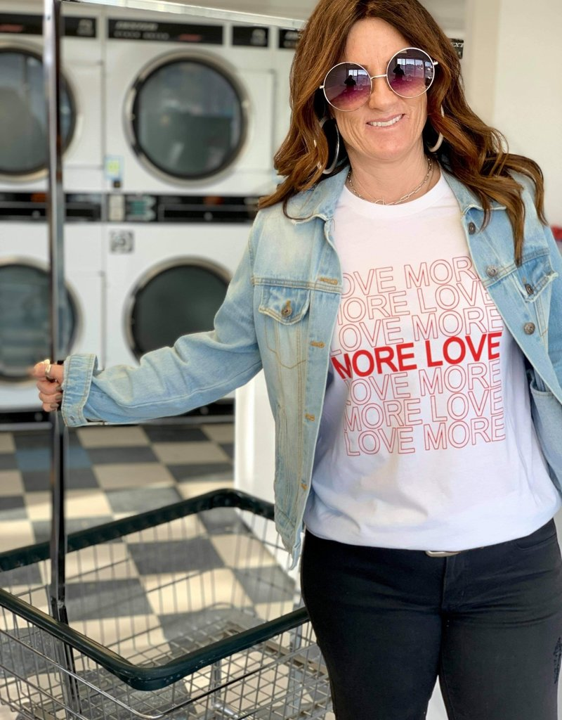 The Wandering WAgon Love more, more love graphic tee