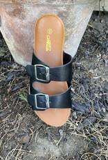 Wandering Wagon Black iconic sandal