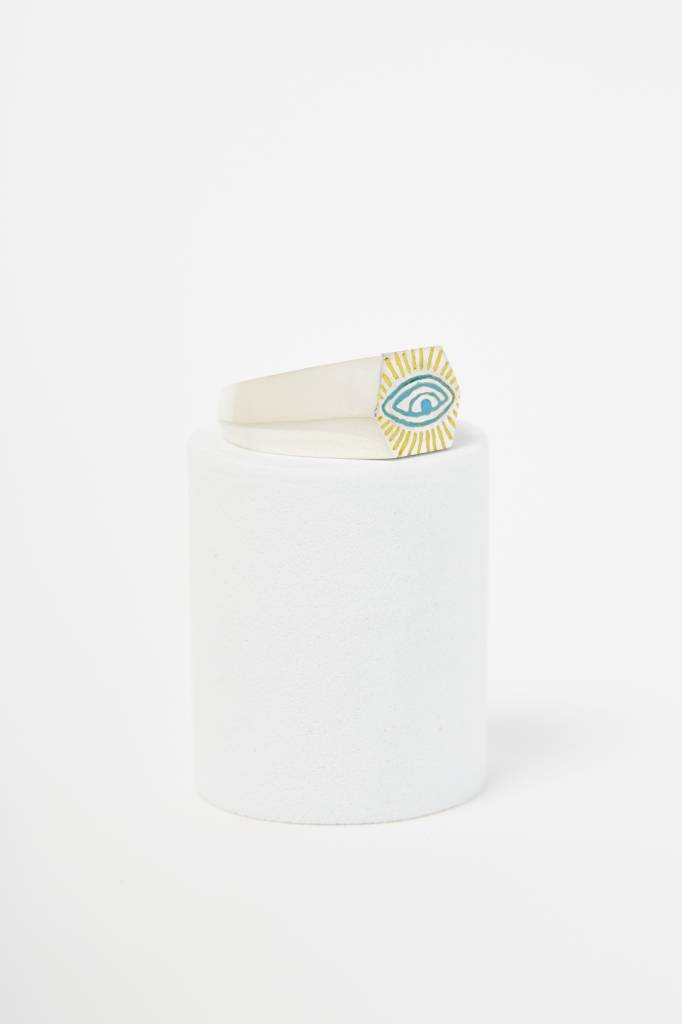 Nvit Blanche All Seeing Eye Signet Ring (Pinky)