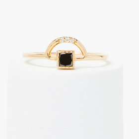Jennie Kwon Black Diamond Arch Ring