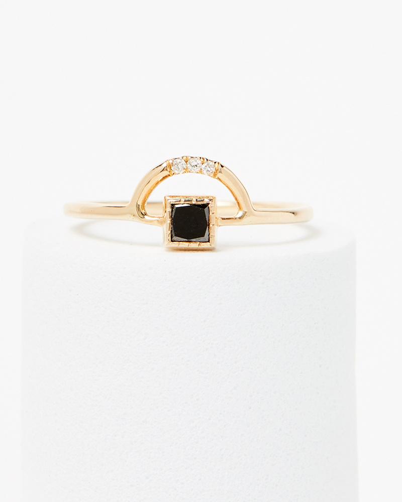 Jennie Kwon Black Diamond Arch Ring