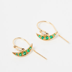 Jennie Kwon Emerald Balance Earrings