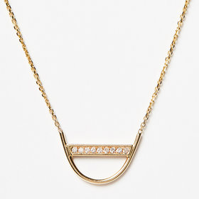 Jennie Kwon Diamond U Necklace