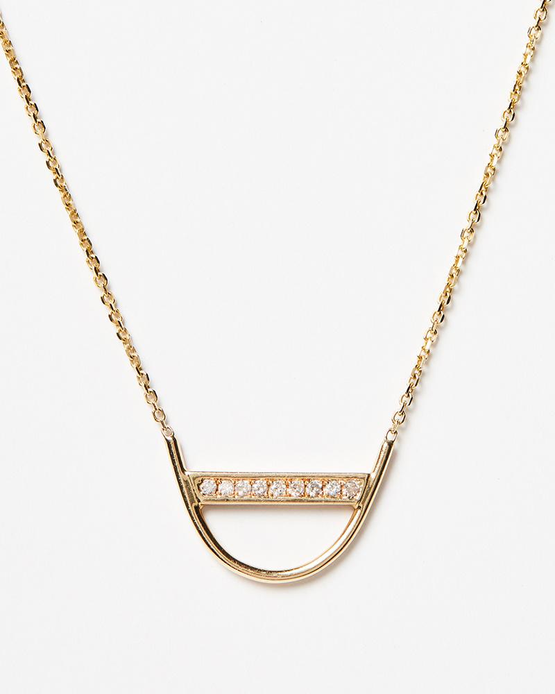 Jennie Kwon Diamond U Necklace