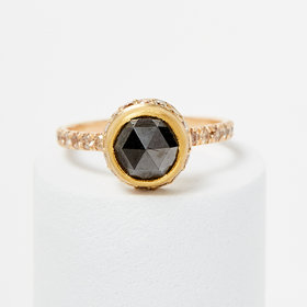 Elizabeth Street Jewelry Black Diamond Crown Ring