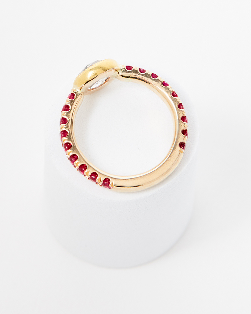 Elizabeth Street Jewelry Salt and Pepper with Ruby Ring