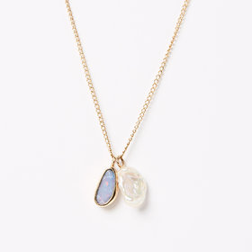 Melissa Joy Manning Opal + Keshi Pearl Necklace