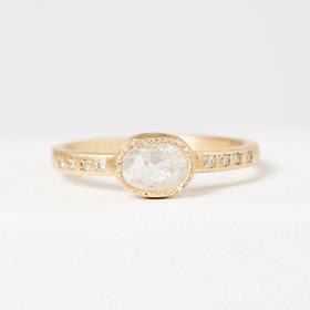 Yasuko Azuma Icy Grey Oval Diamond Ring