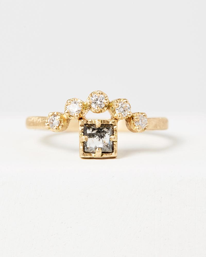 Yasuko Azuma Square Diamond Muguet Ring