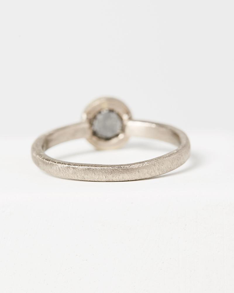 Yasuko Azuma Round Salt & Pepper Diamond Ring