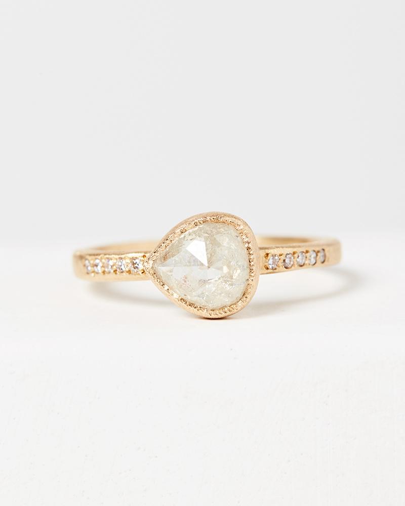 Yasuko Azuma Sideways Icy Pear Ring