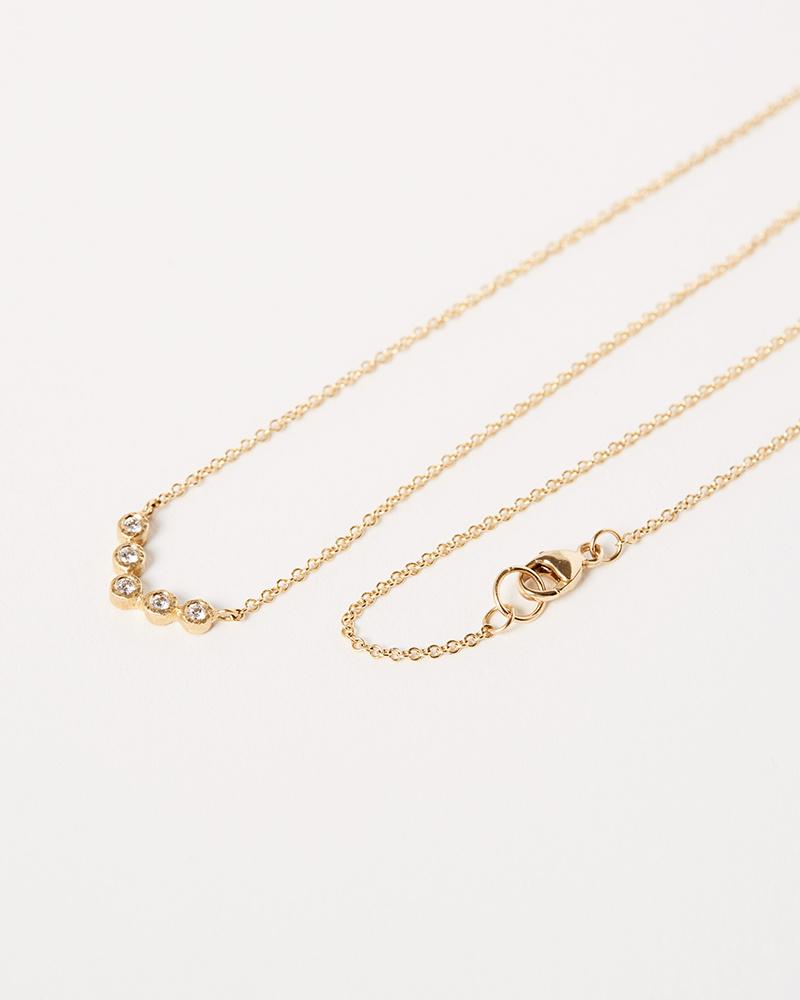 Yasuko Azuma V Shaped Diamond Necklace