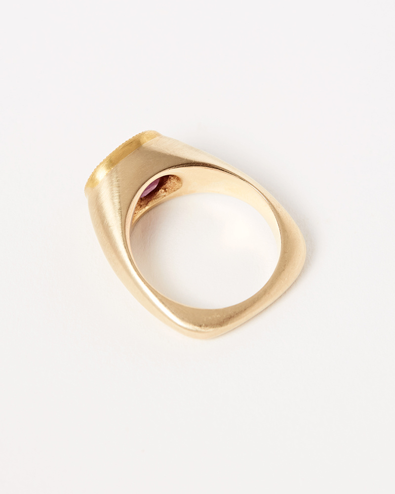 Elizabeth Street Jewelry Ruby Signet Ring