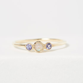 Jennie Kwon Opal Tanzanite Trio Ring