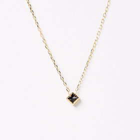 Jennie Kwon Square Black Diamond Pendant
