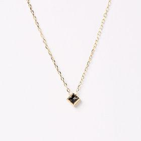 Jennie Kwon Square Black Diamond Pendant