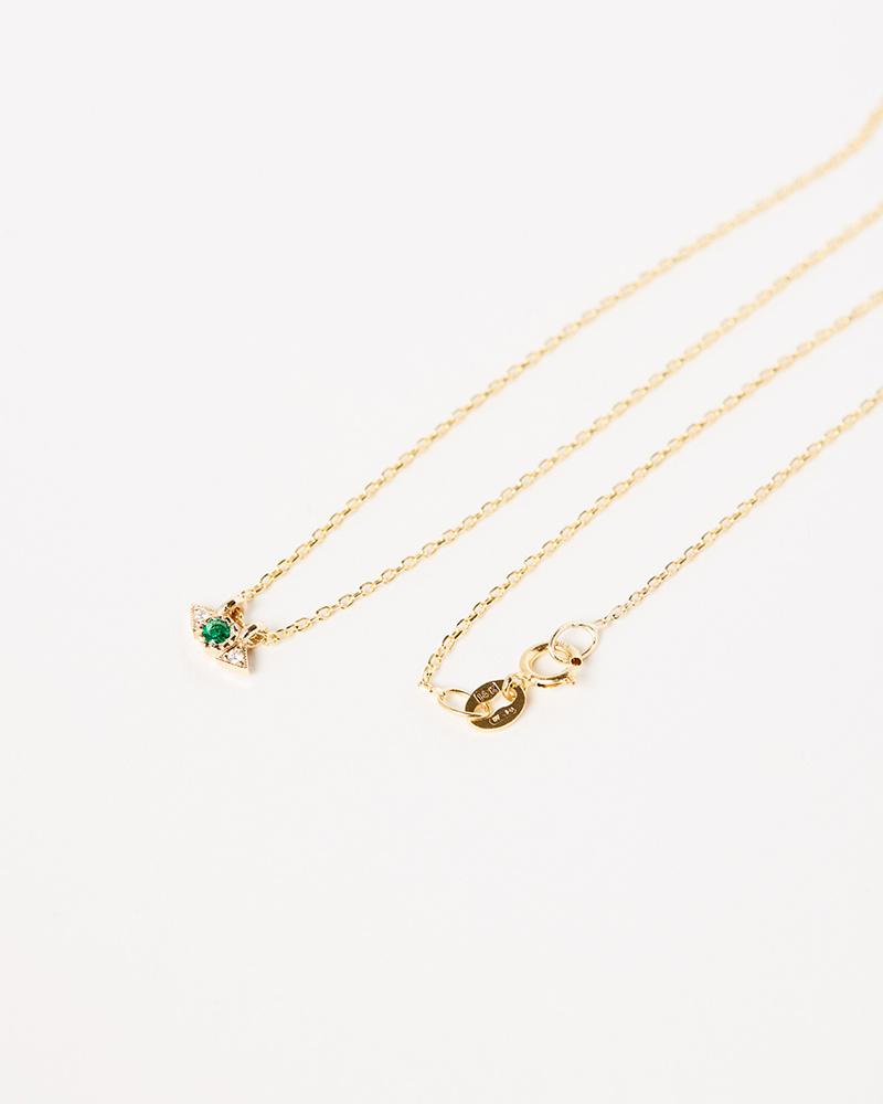 Jennie Kwon Emerald Spear Necklace