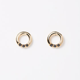 Jennie Kwon Black Diamond O-Studs (pair)