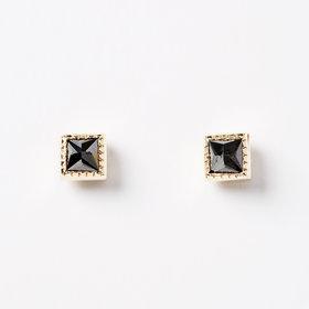 Jennie Kwon Square Black Diamond Earrings