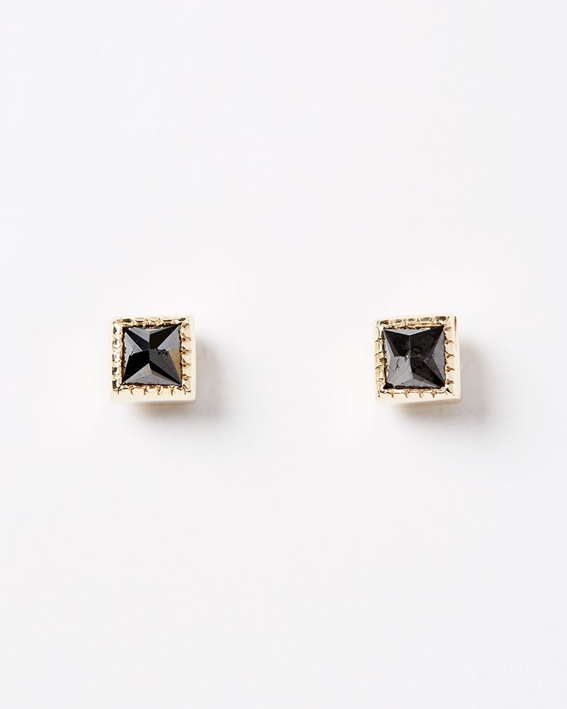 Jennie Kwon Square Black Diamond Earrings
