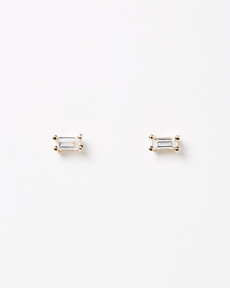 Jennie Kwon Diamond Baguette Stud
