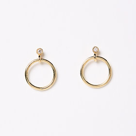 Jennie Kwon Mini Diamond Eternity Dangle Earring (Single)