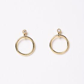 Jennie Kwon Mini Diamond Eternity Dangle Earring (Single)