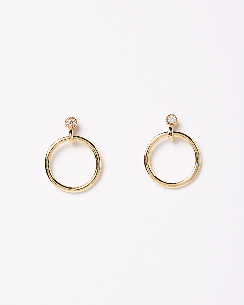 Jennie Kwon Mini Diamond Eternity Dangle Earring